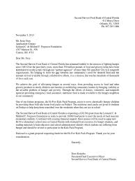 Request For Food Donation Letter Sample Grant Proposal For Second Harvest Food Bank Of Central Florida