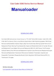 cub cadet 3000 series service manual documents