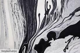 Wohnzimmerm El Weiss öl Gemälde U0027abstrakte Strukturen Schwarz Weiss Xxl U0027 Handgemalt