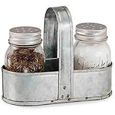 mud pie fresh jar salt and pepper caddy set silver