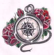 traditional roses and compass design