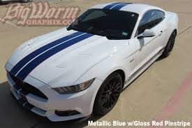 white mustang blue stripes 2015 17 mustang narrow dual length stripes