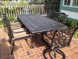 Cast Aluminum Patio Table And Chairs Mandalay Cast Aluminum Powder Coated Pc Outdoor Patio Dining Set