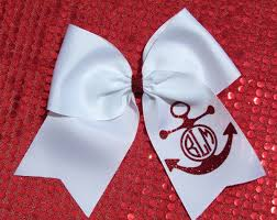personalized bows personalized monogrammed custom made glitter anchor