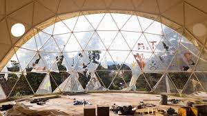 abandoned half built geodesic dome home youtube