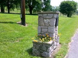 mailbox landscaping ideas with rock simple mailbox landscaping