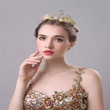 retro hair accessories online shop 2017 new baroque swan crown wedding dress