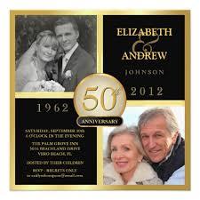 50th wedding anniversary invitations 50th wedding anniversary photo invitations zazzle