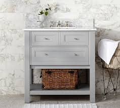 Bathroom Sink Table Classic Single Sink Console Gray Pottery Barn