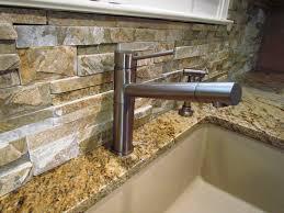 Stone Backsplash In Kitchen by Interior Beautiful Stacked Stone Backsplash Kitchen Backsplash