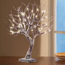 frosted led lighted tabletop tree from collections etc