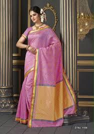 kancheepuram style baby pink color designer butter silk saree 504865