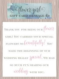 wedding gift card message flower girl gift card message ideas pearls