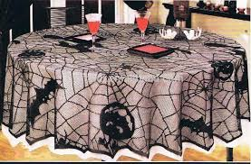 black spider web lace halloween tablecloths 70 round black lace