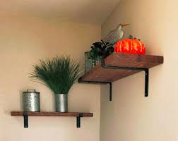 Distressed Wood Shelves by Iron Wood Shelves Etsy