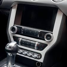 mustang navigation chrome interior accessories central navigation frame trim