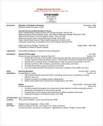 Example Of Nursing Resumes by Student Nurse Resume Template