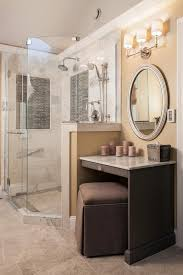 Bathroom Makeup Vanities Makeup Vanities Bathroom Transitional With Bedroom Built In Tv