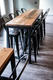 Industrial Bar Table How To Build Reclaimed Industrial Tables Custom Projects