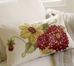 Pottery Barn Lumbar Pillow Covers Mum Embroidered Lumbar Pillow Cover Pottery Barn 45 50