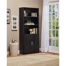 Bookcase With Door Ameriwood 3 Shelf Bookcase With Doors Walmart