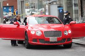 bentley coupe red mercedes driver lights up bentley in chelsea drive by new york post