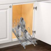 lynk under cabinet storage lynk professional slide out pan lid holder pull out kitchen cabinet