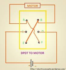 how to control a dc motor using dpdt switch electroconcepts