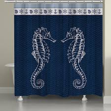 Coastal Shower Curtain by Seahorses Shower Curtain U2013 Laural Home