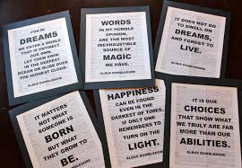 dumbledore harry potter dictionary print quote pages the wise