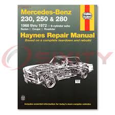 mercedes 280sl haynes repair manual base shop service garage book