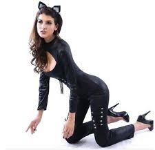 Catwoman Halloween Costumes Girls Catwoman Cosplay Costumes Reenactment Theater Ebay