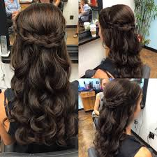 half up half down hairstyle finals braid crown and hair style