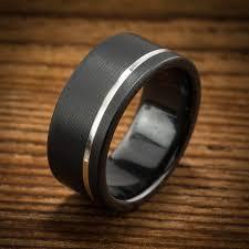 men s wedding band comfort fit interior black zirconium