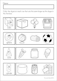 3d shapes worksheets for kindergarten worksheets