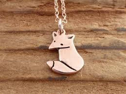 rose gold animal necklace images Rose gold fox shaped necklace jpg