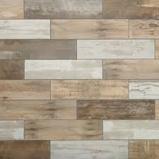 Floor Porcelain Tiles Marazzi Montagna Wood Vintage Chic 6 In X 24 In Porcelain Floor