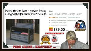 Keter Bench Storage Picked Up A Keter Wlf 60 Gal Resin Storage Bench Youtube