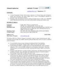 Sql Dba Sample Resume by Sql Developer Resume Sample Resume For Sql Server Dba Sql Server