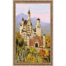 riolis neuschwanstein castle counted cross stitch
