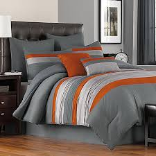 Orange Bed Set Achieve A Sleek Look In Your Bedroom With The Livingston Comforter