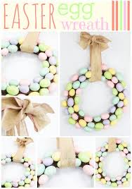 how to make an easter egg wreath easter egg wreath ideas