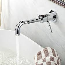 contemporary wall mount solid brass bathroom faucet chrome