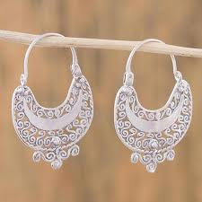 filigree earrings sterling silver filigree earrings from mexico curlicue novica