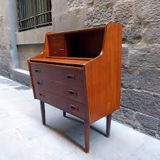 small teak writing desk mid century teak writing desk secretaire 1960s for sale at pamono