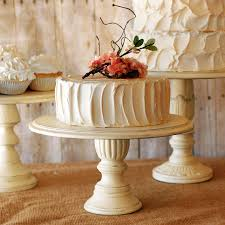 16 Inch Pedestal Cake Stand Set Of 3 Rustic Pedestal Serving Cake Stands By Roxyheartvintage