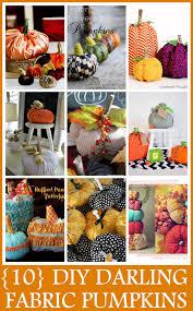 10 diy fabric pumpkin designs craft o maniac