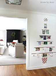 displaying cards with a diy christmas card tree driven by decor