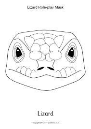 printable lizard mask template lizard role play mask sb9963 sparklebox