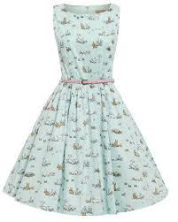 audrey u0027 pastel green spring animal print swing dress